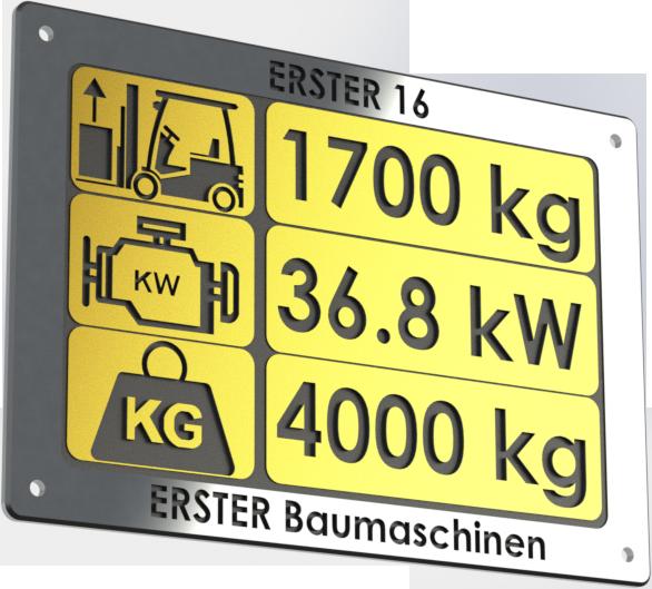 technische Daten Hoflader / Radlader ERSTER 16