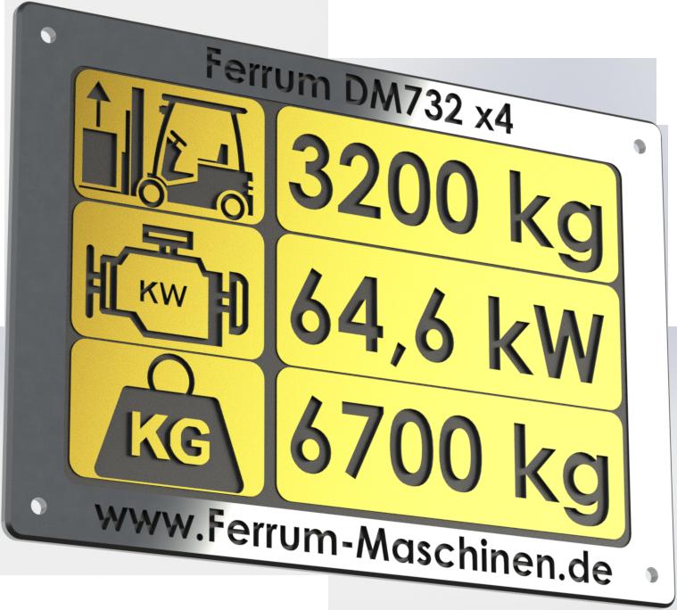 Radlader 3,2 t | 3200 kg Hubkraft - Ferrum DM732 x4