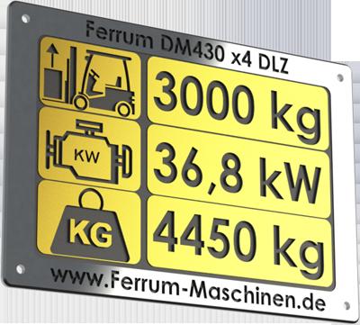 technische Daten Hoflader / Radlader Ferrum DM430 x4 DLZ