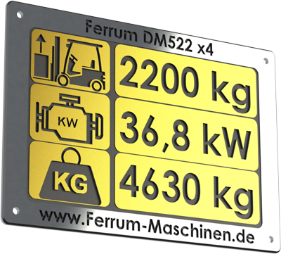 technische Daten Hoflader / Radlader Ferrum DM416 x4