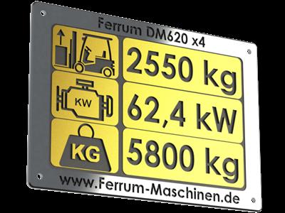 technische Daten Hoflader / Radlader Ferrum DM620 x4